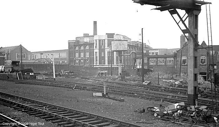 Leicester Central station, start of removal of signalling