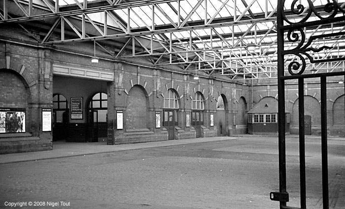 Old photo of Leicester Central station entrance hall