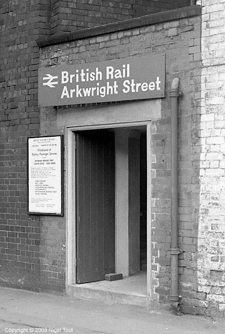 Entrance to Nottingham Arkwright Street station