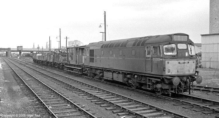Class 27 diesel locomotive at Leicester Central goods yard