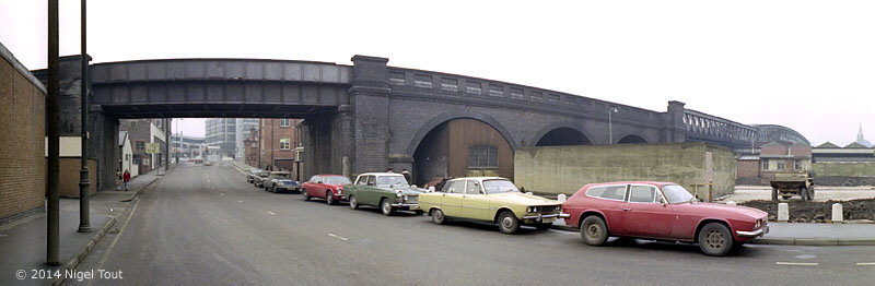 GCR viaduct, Queens Road, Nottingham