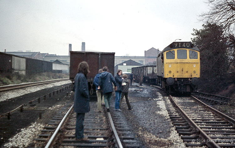 Class 25 locomotive at Raleigh sidings, Nottingham