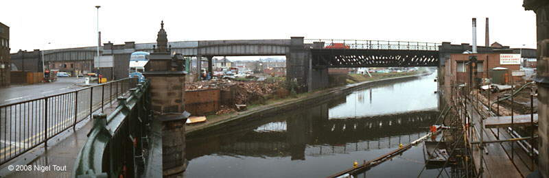 Demolition of West Bridge viaduct, GCR, Leicester