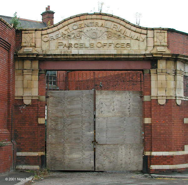 Parcels Offices entrance, Leicester Central station.