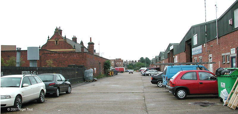 Site of Leicester Central station platforms