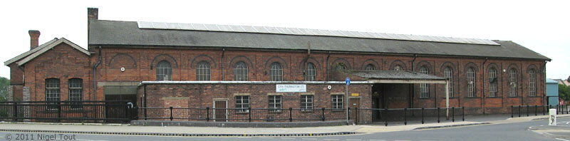GCR ex-wagon repair shop before conversion, Leicester