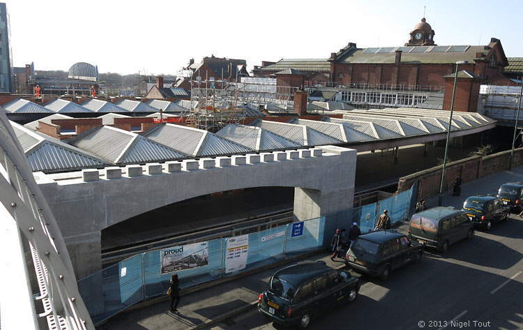 New tram bridge over Midland Station, Nottingham