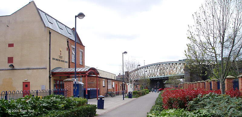 "Braunstone Gate ""Bowstring"" bridge, GCR, and sports hall Leicester"