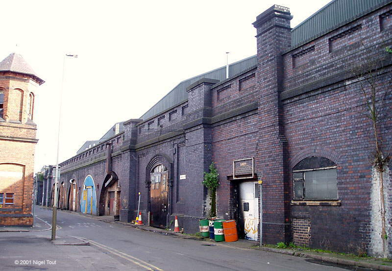 Rear entrance, rooms and chimney, Great Central station, Leicester