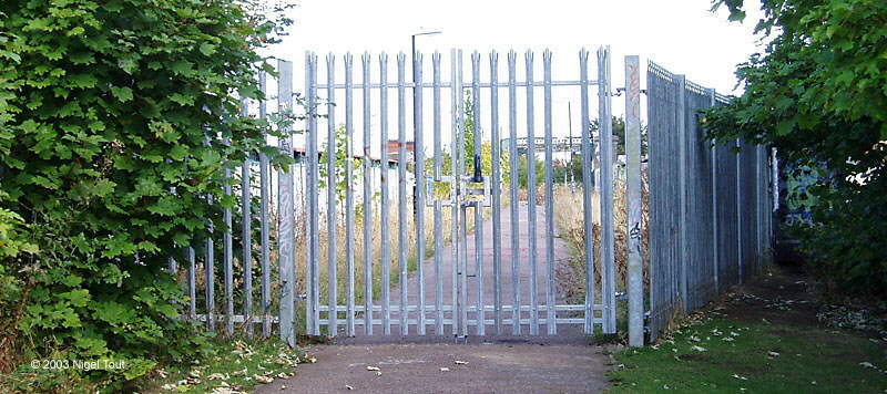 Fence across Great Central Way