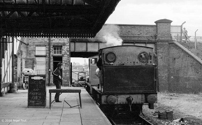 Footplate rides at Loughborough Central, GCR, Robert Nelson No. 4, 1973