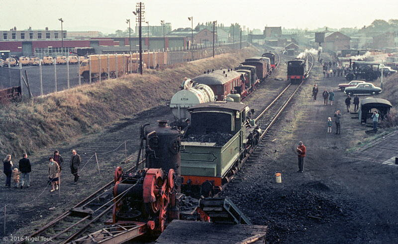 Steam locomotives GCR Loughborough Central, 1973