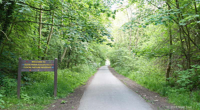 Great Central Way through nature reserve