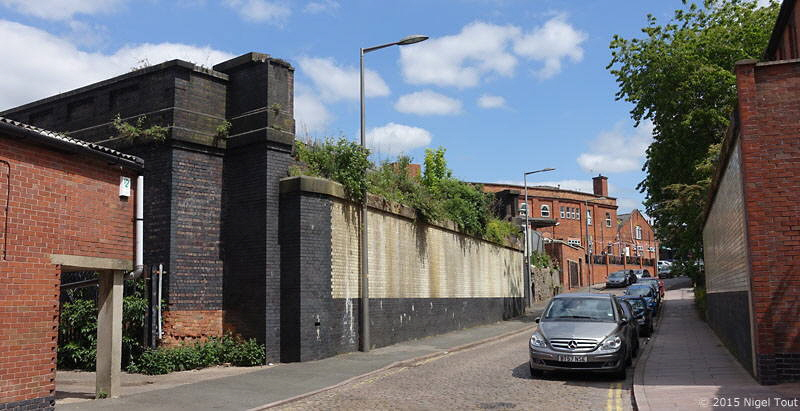 Site of GCR bridge, Welles Street, Leicester