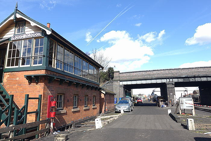 GCR 'Bridging the Gap' route of new track past signal box