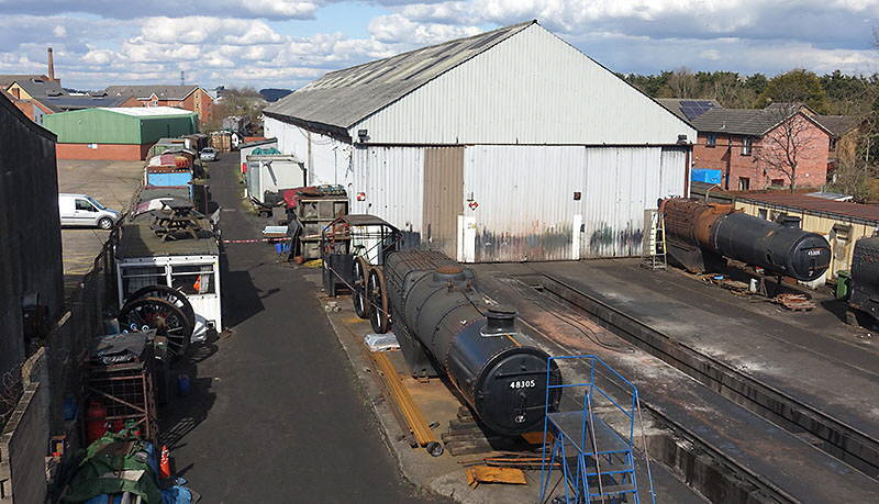 GCR 'Bridging the Gap' route of new track past locomotive shed