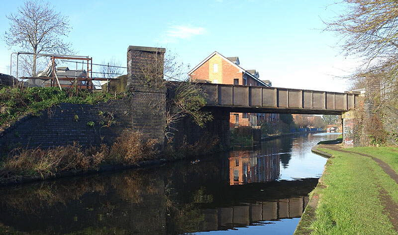 GCR canal bridge with parapets removed