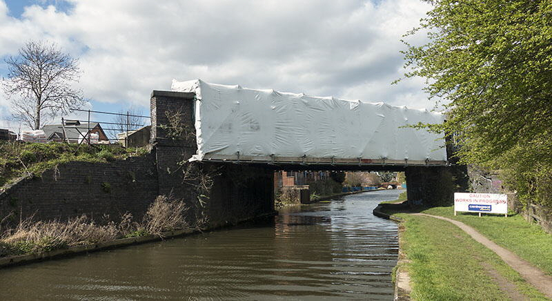 GCR canal bridge cocooned for refurbishment