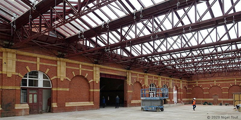 Inside the refurbished Leicester Central station