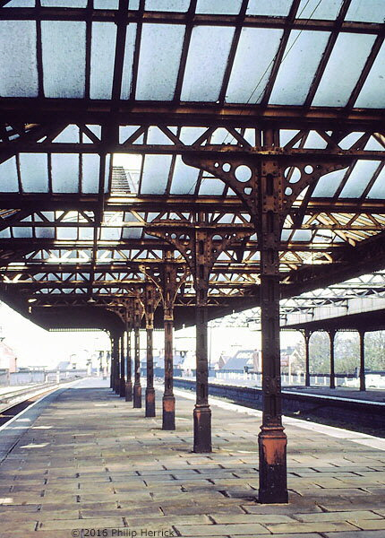 Looking north, Leicester Central station