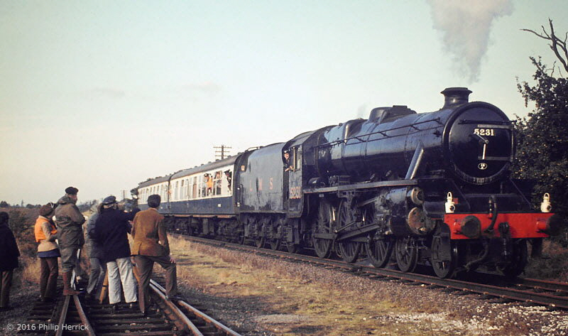 Black five 5231 on TV, Quorn & Woodhouse, 1973