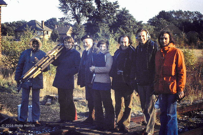 Bob Symes and TV team, Quorn & Woodhouse, 1973