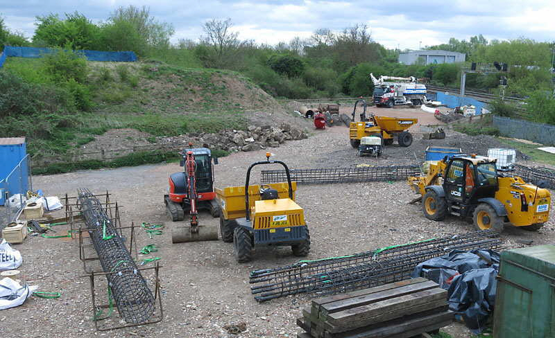 Bridging the Gap - north embankment piling preparation