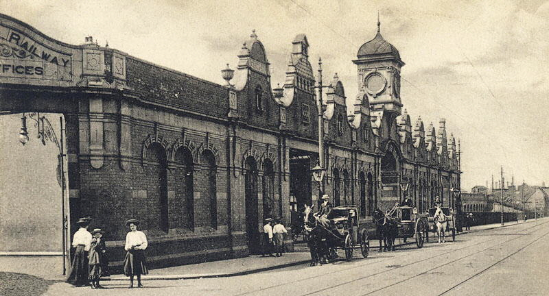 Leicester Central station postcard1910